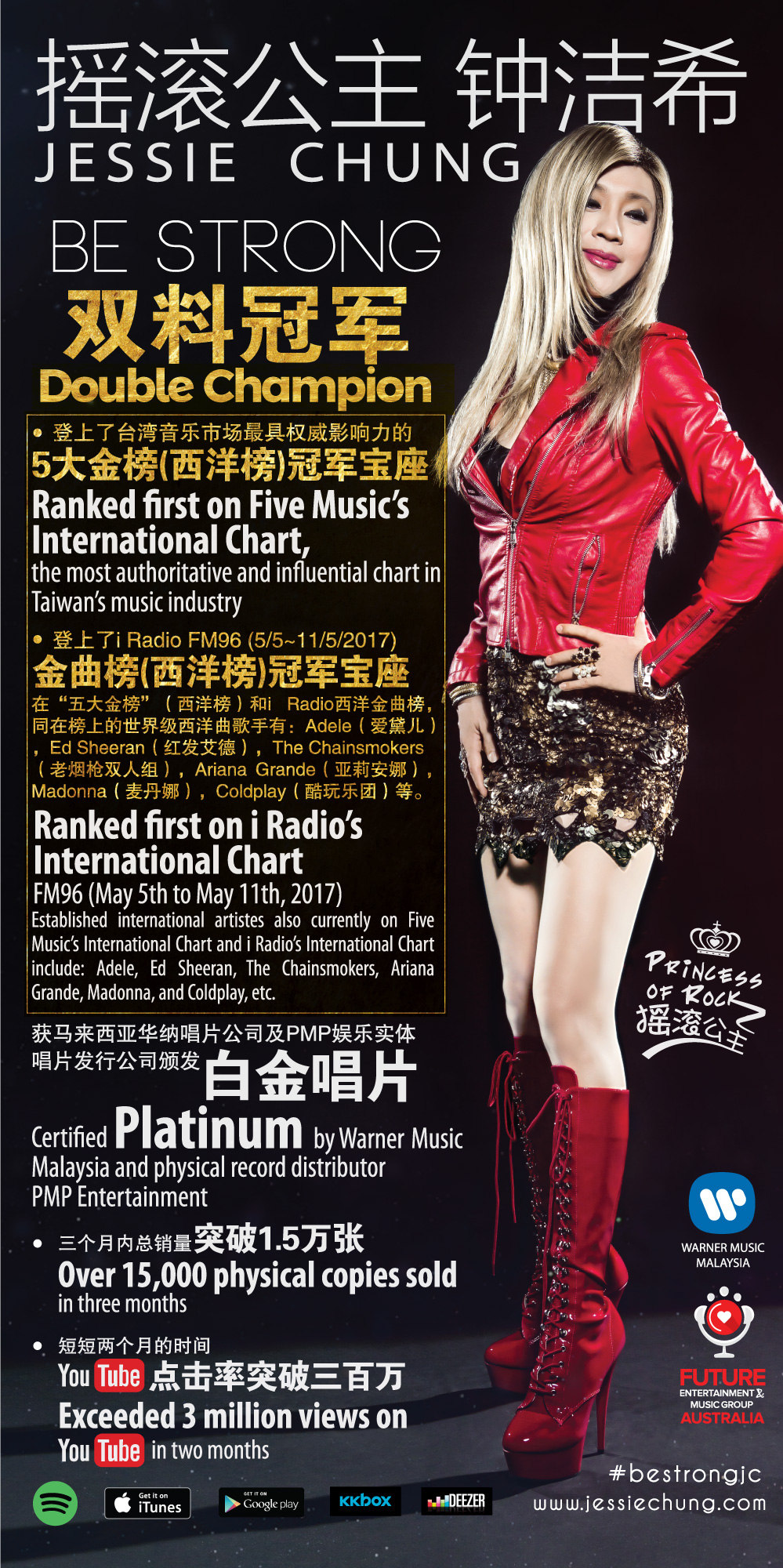 Jessie Chung Scored Double Champion in Charts in Taiwan